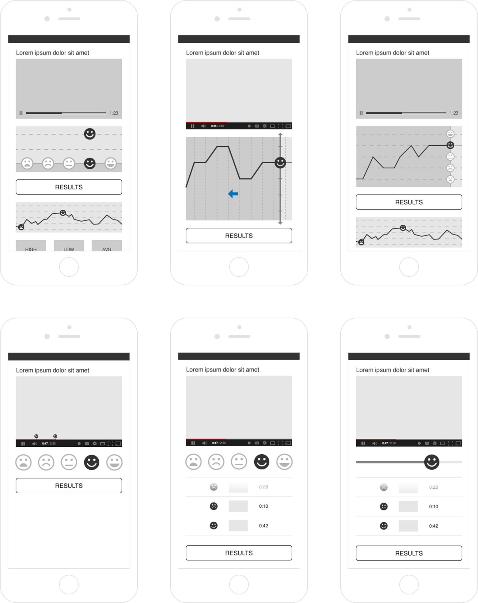 Voting module wireframes