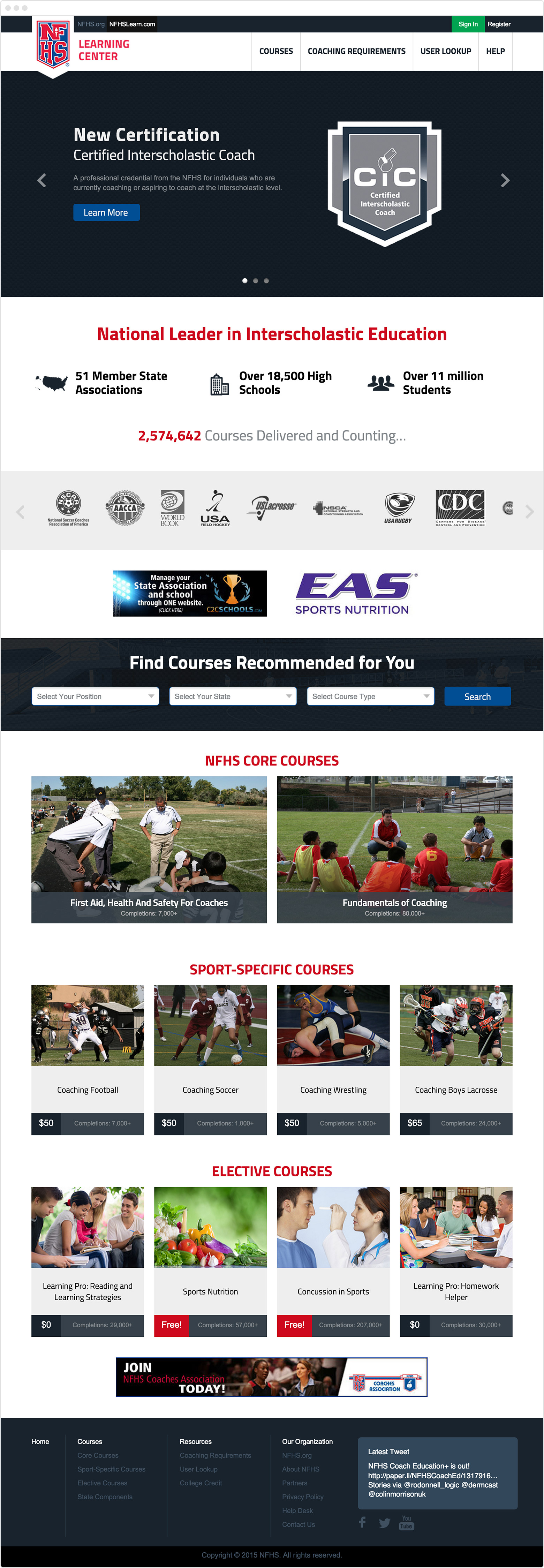 NFHS Learning Center home page